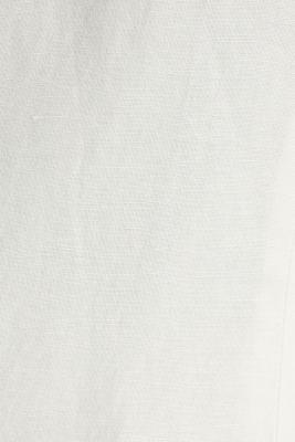 One-button blazer in blended linen, OFF WHITE, detail