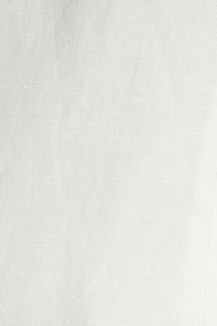One-button blazer in blended linen, OFF WHITE, detail image number 4