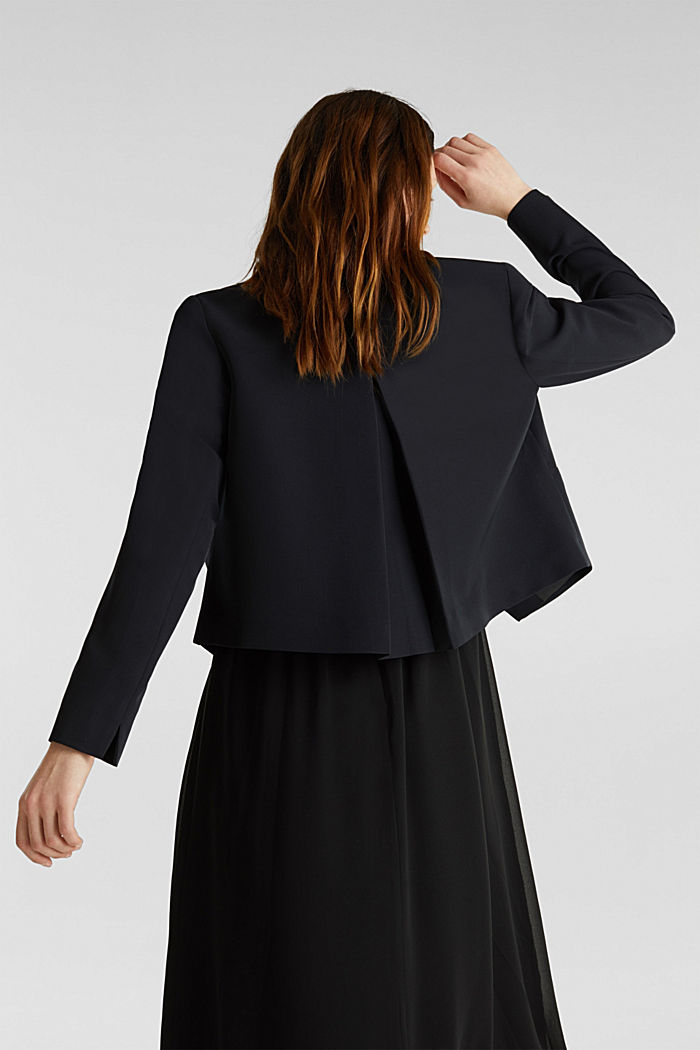 Stretch blazer with a back pleat, BLACK, detail image number 3