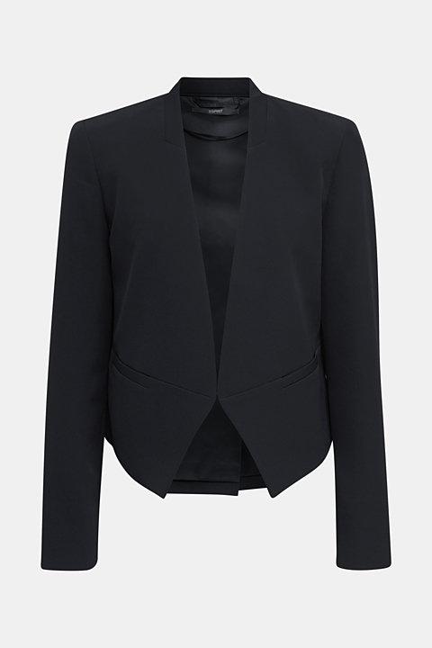 Stretch blazer with a back pleat