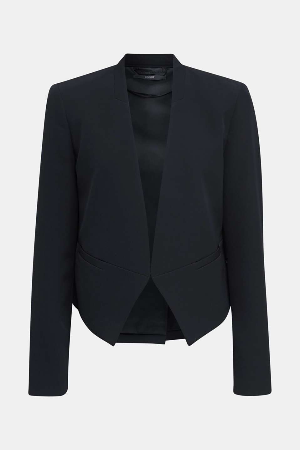 Stretch blazer with a back pleat, BLACK, detail image number 5
