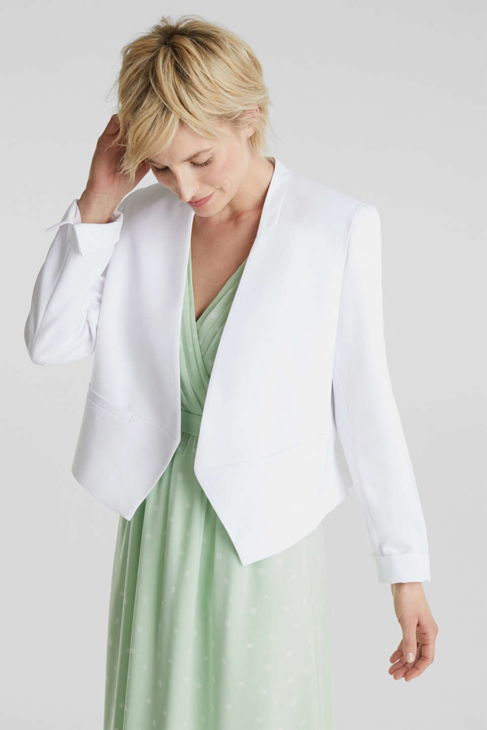 Esprit - Stretch blazer with a back pleat