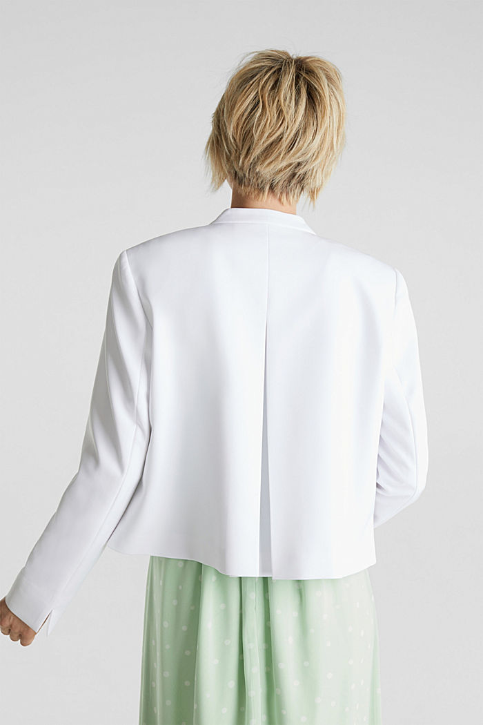 Stretch blazer with a back pleat, WHITE, detail image number 3