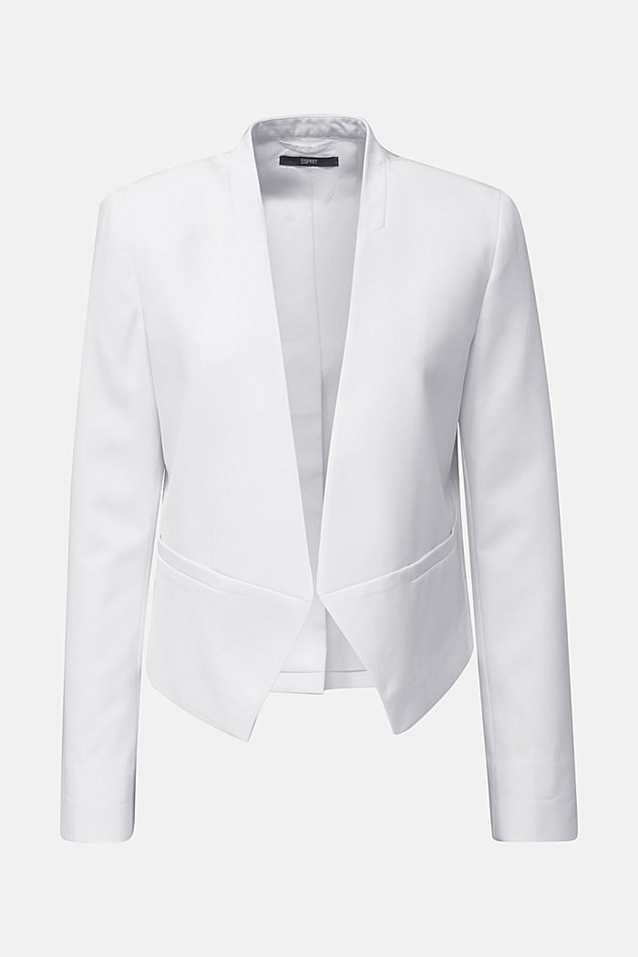 Stretch blazer with a back pleat, WHITE, detail image number 5