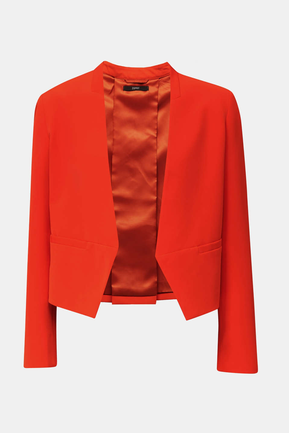 Stretch blazer with a back pleat, RED ORANGE, detail image number 4