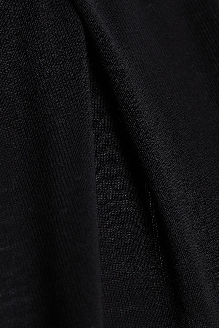 Flowing long jersey cardigan, BLACK, detail image number 4