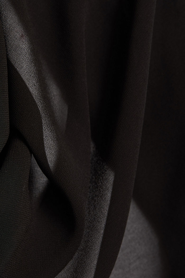 Bolero made of recycled chiffon, BLACK, detail image number 4
