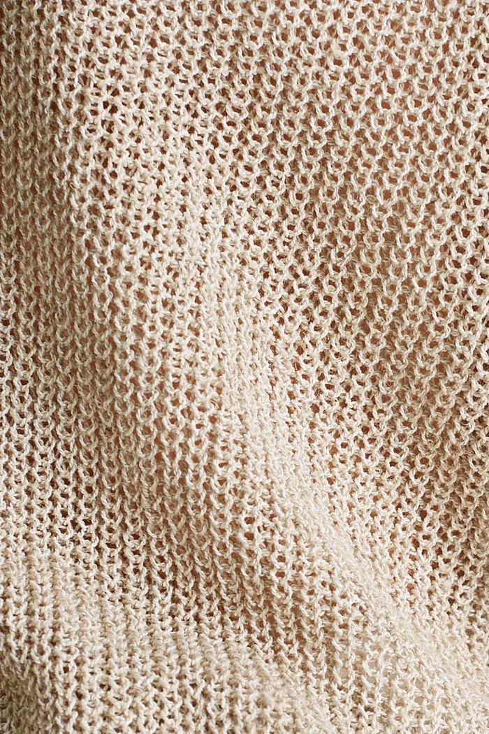 Delicate V-neck jumper with lace, BEIGE, detail image number 4