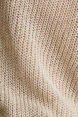 Delicate V-neck jumper with lace, BEIGE, detail