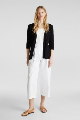 Textured knit cardigan with TENCEL™, BLACK, detail