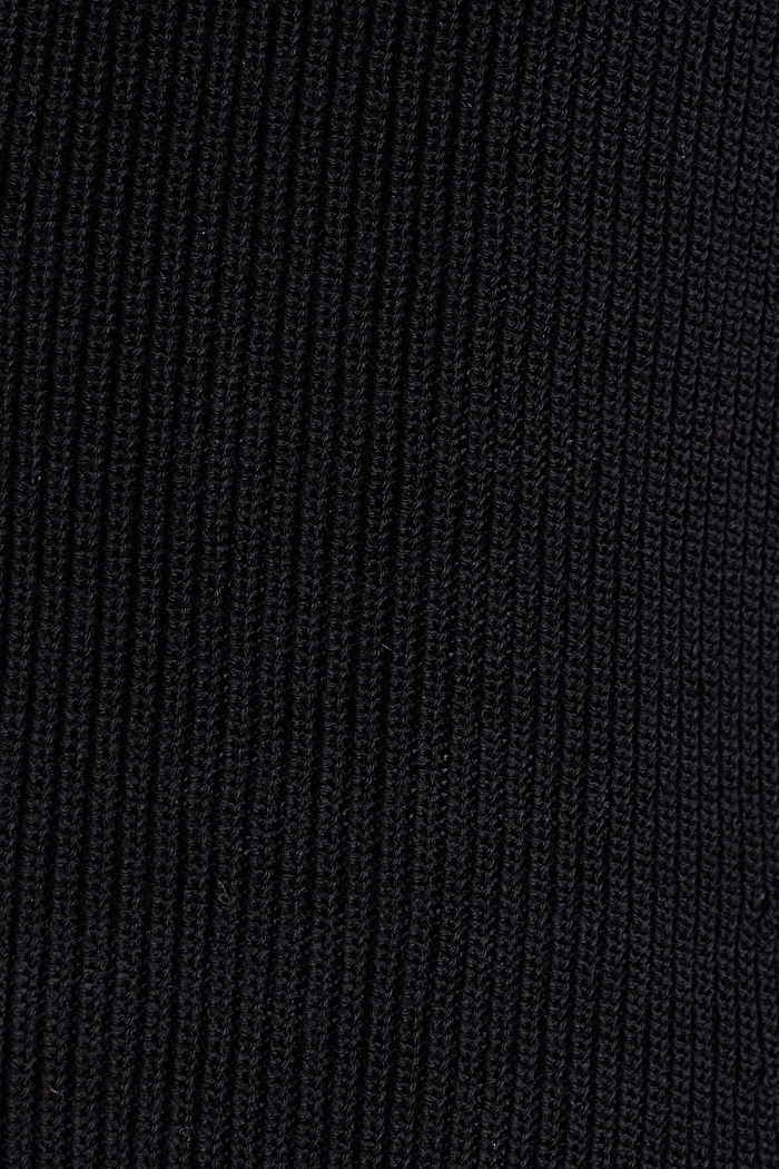 Textured cardigan with TENCEL™, BLACK, detail image number 4