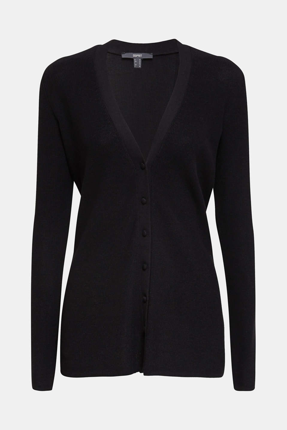 Textured knit cardigan with TENCEL™, BLACK, detail image number 5