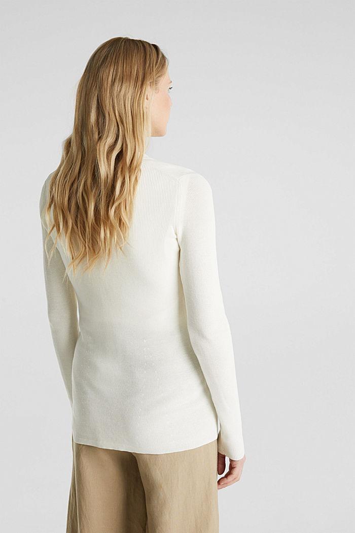 Mit TENCEL™: Struktur-Cardigan, OFF WHITE, detail image number 3