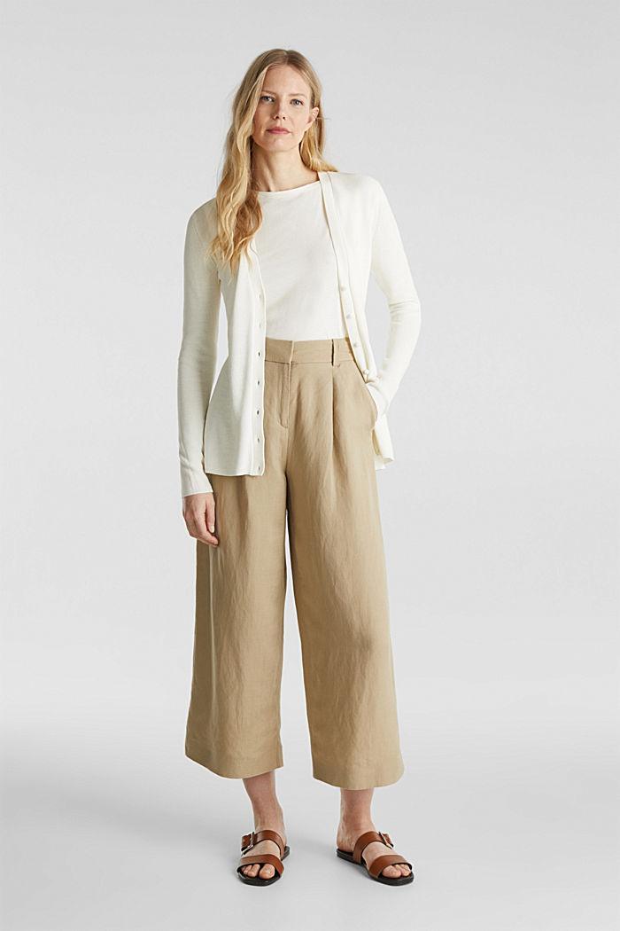 Mit TENCEL™: Struktur-Cardigan, OFF WHITE, detail image number 1