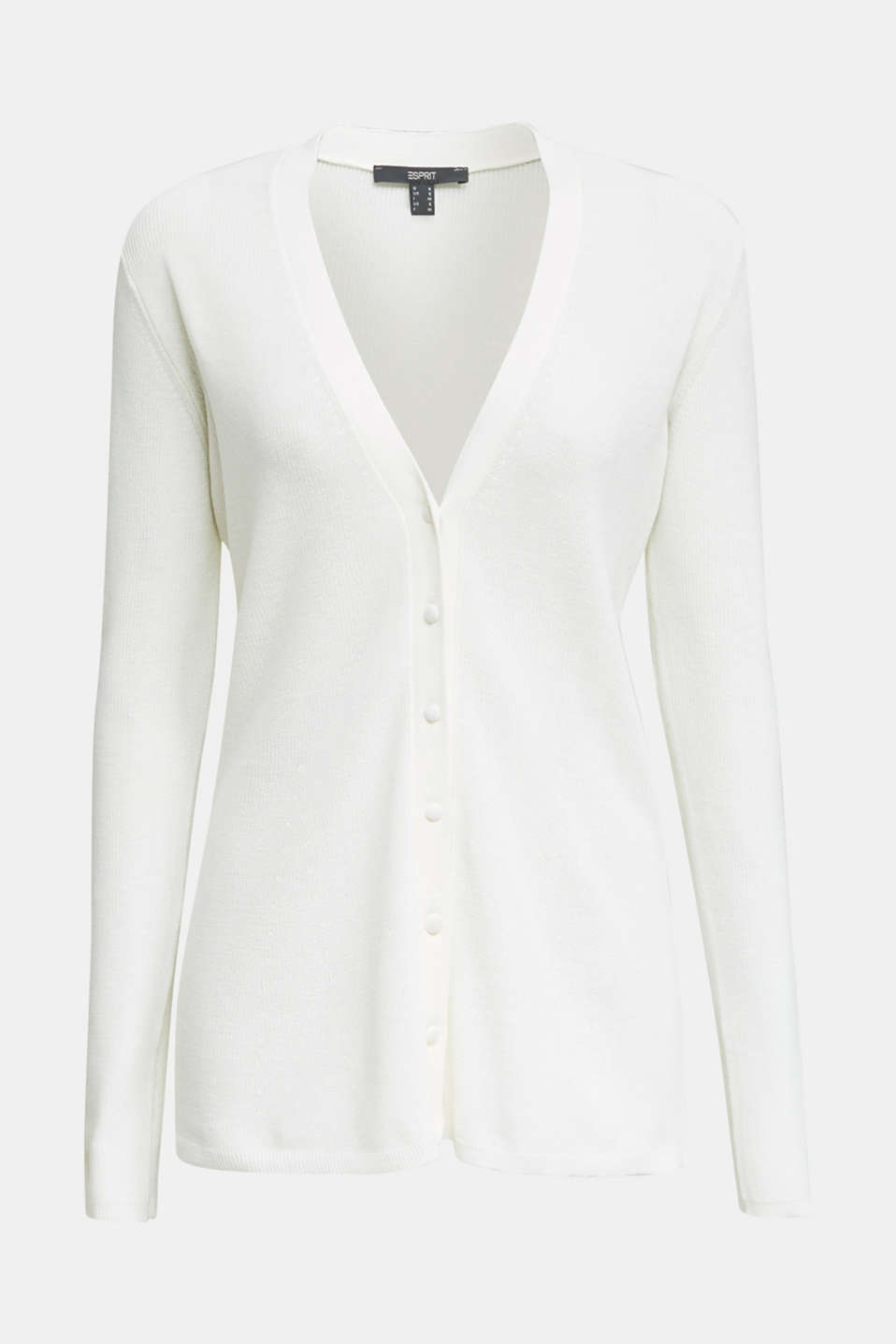 Textured cardigan with TENCEL™, OFF WHITE, detail image number 5