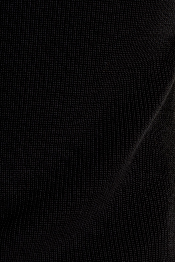 Knitted V-neck top With TENCEL™, BLACK, detail image number 4