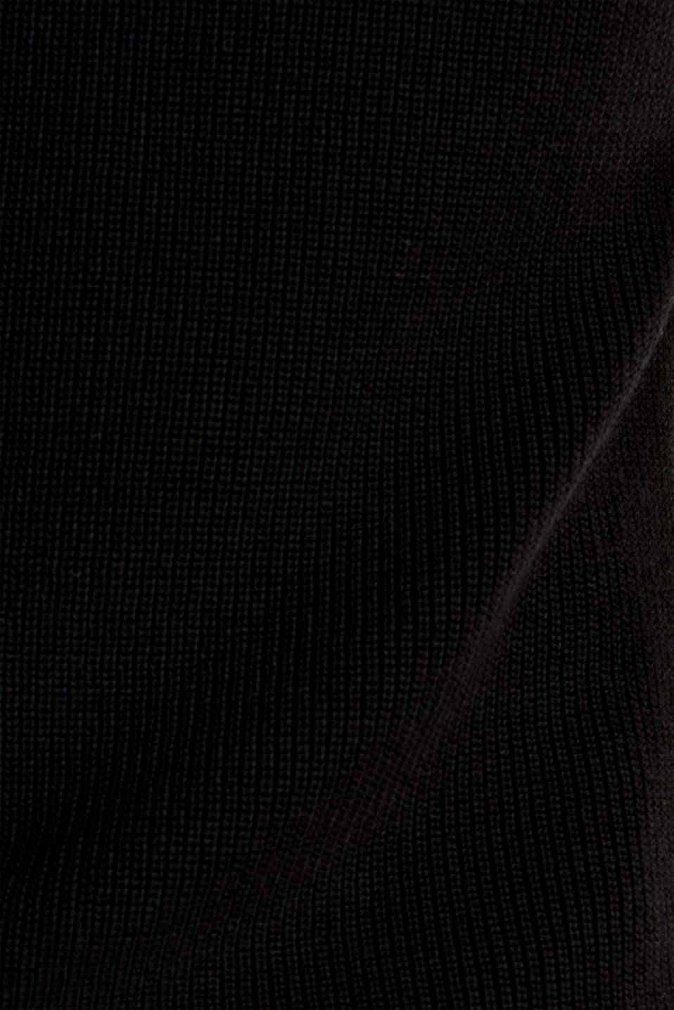 With TENCEL™: knitted V-neck top, BLACK, detail image number 4