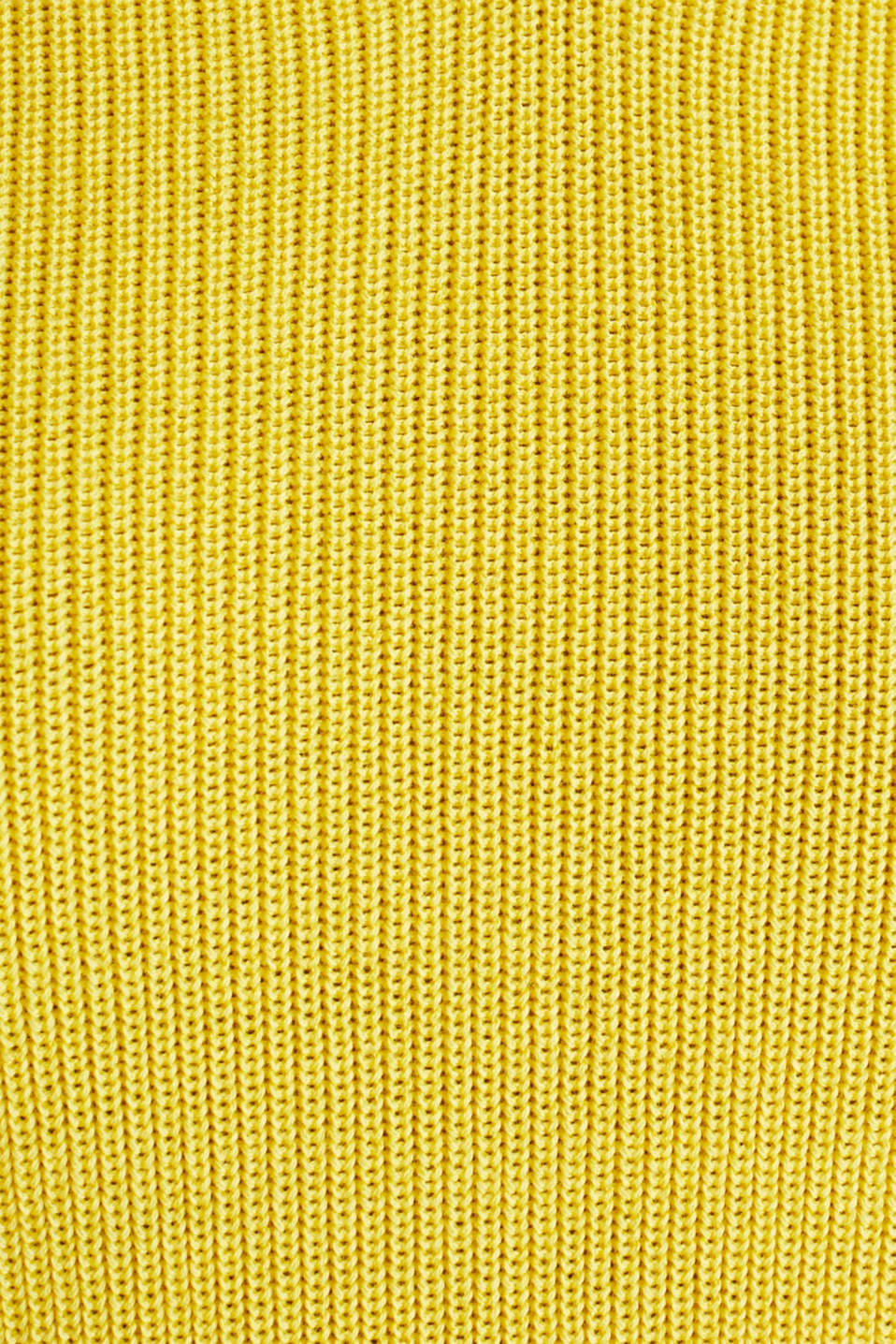 Knitted V-neck top With TENCEL™, YELLOW, detail image number 4