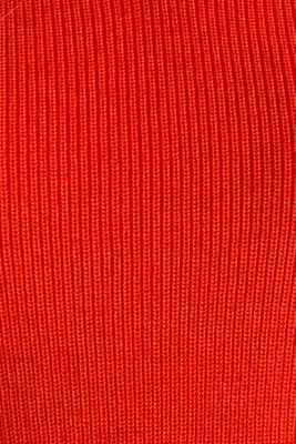 Knitted V-neck top With TENCEL™, RED ORANGE, detail