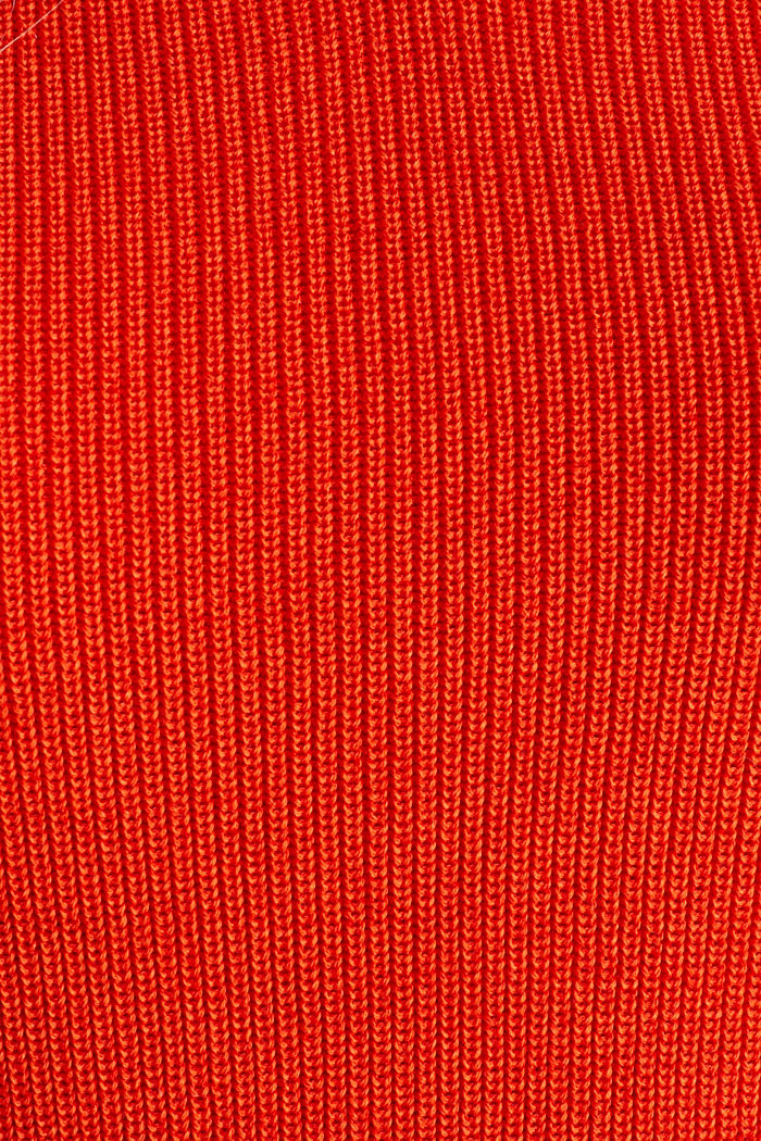 Knitted V-neck top With TENCEL™, RED ORANGE, detail image number 4