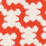 Short-sleeved jumper in a jacquard look, RED ORANGE 4, swatch