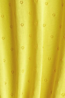 Short-sleeved jumper with an openwork pattern and lace, YELLOW, detail