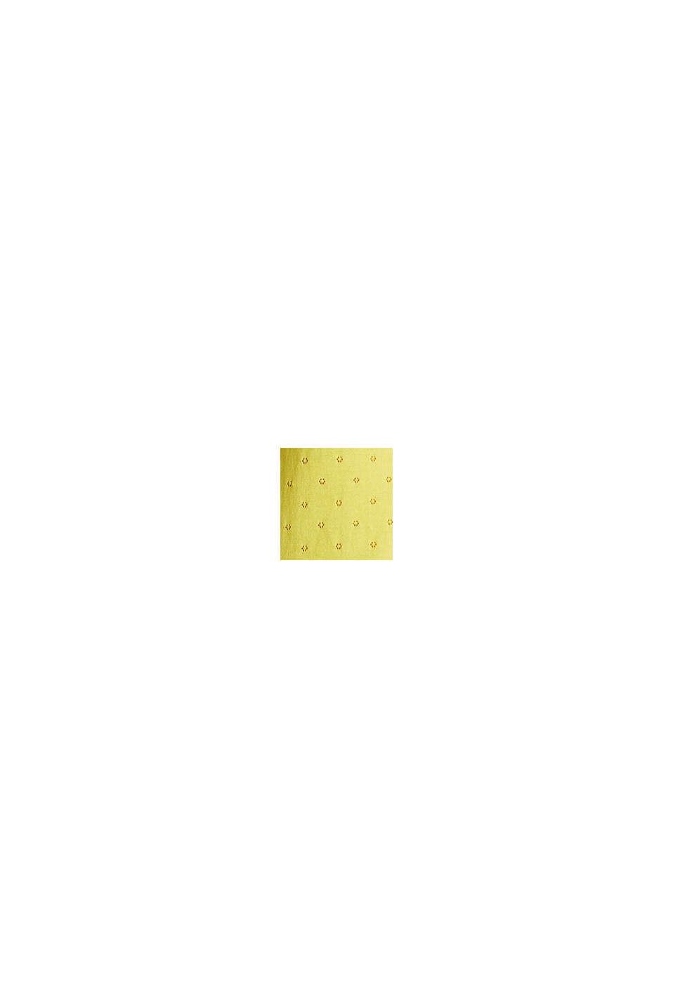 Pull-over orné de dentelle, à manches courtes et motif ajouré, YELLOW, swatch