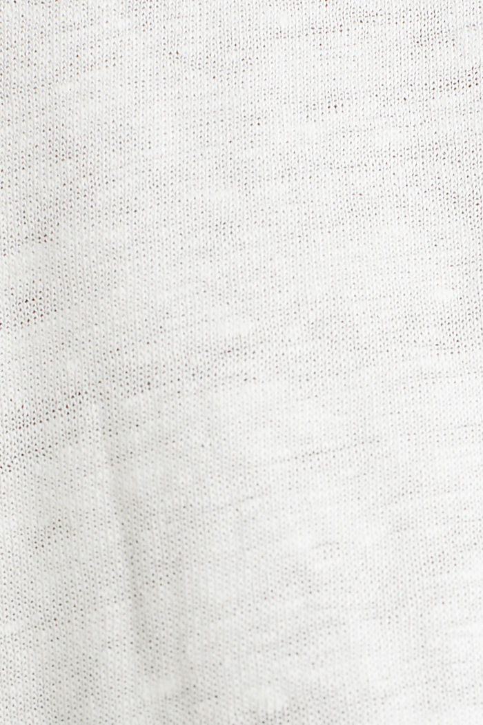 Made of linen: top with fabric details, OFF WHITE, detail image number 4