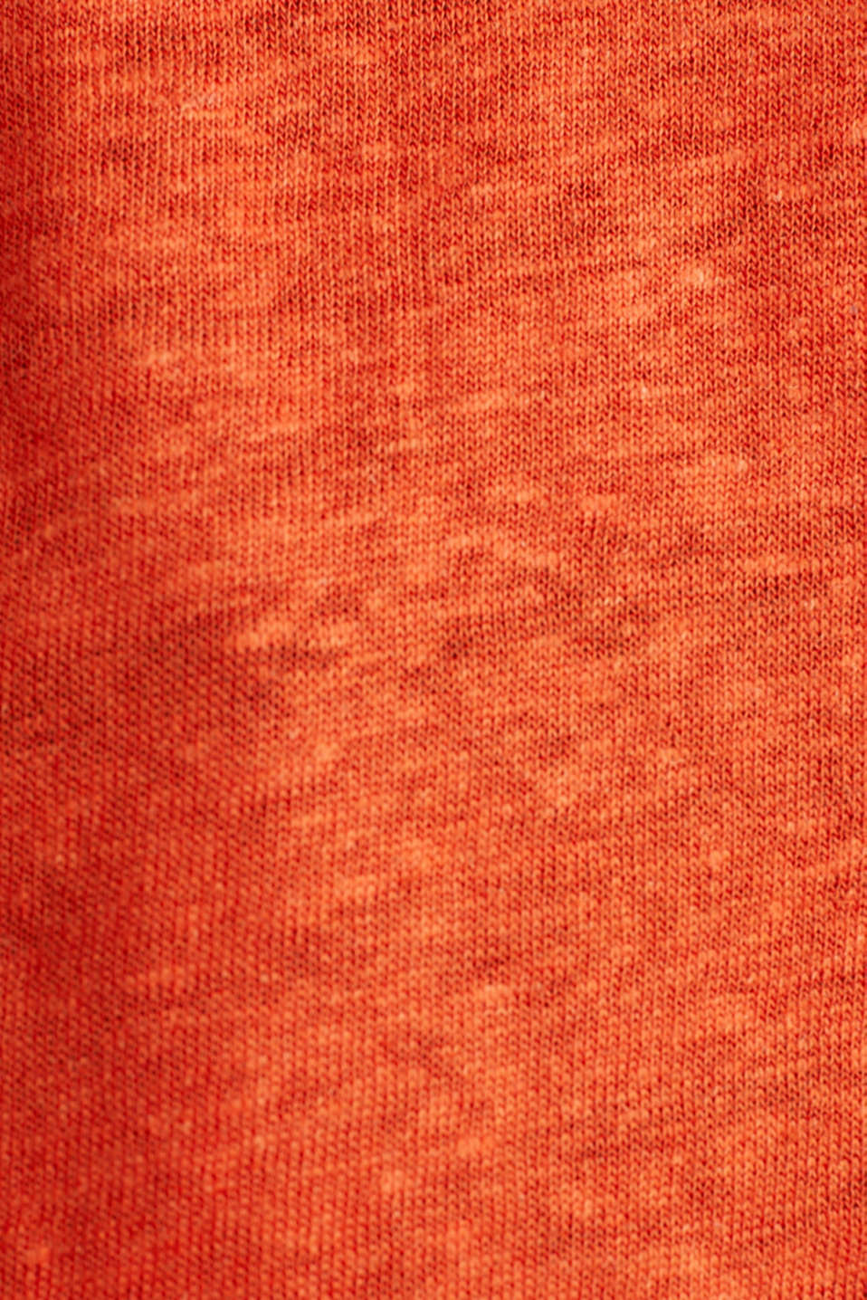 Made of linen: top with fabric details, RED ORANGE, detail image number 4
