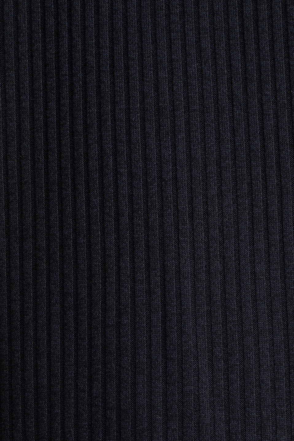Stretch T-shirt with a ribbed texture, BLACK, detail image number 4