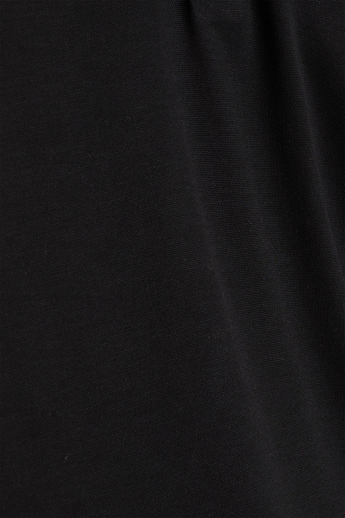 Polo shirt made of flowing piqué, BLACK, detail image number 4