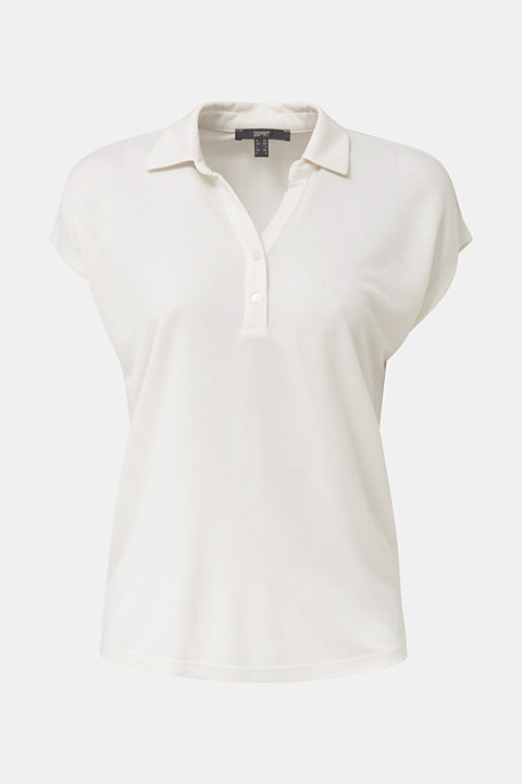 Polo shirt made of flowing piqué