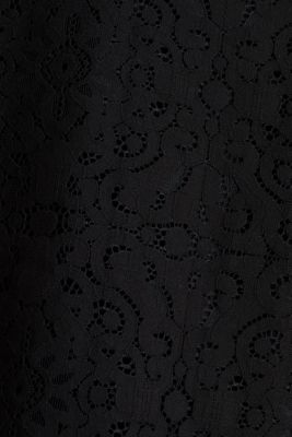 Floral lace blouse top, BLACK, detail