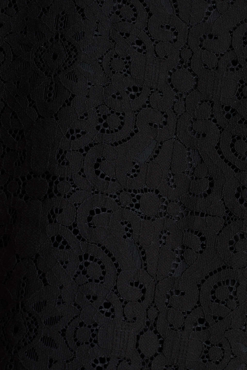 Floral lace blouse top, BLACK, detail image number 3