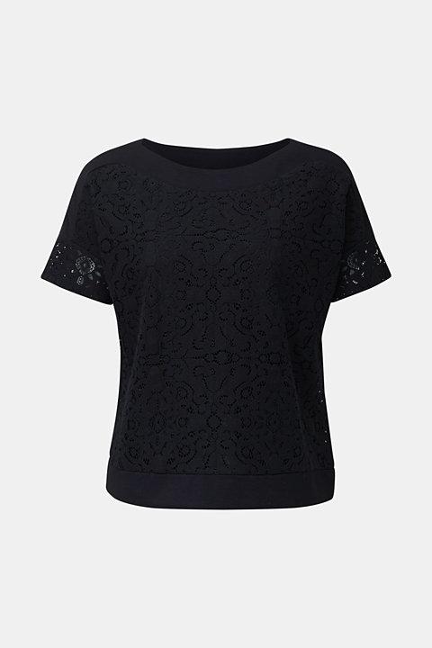 Floral lace blouse top