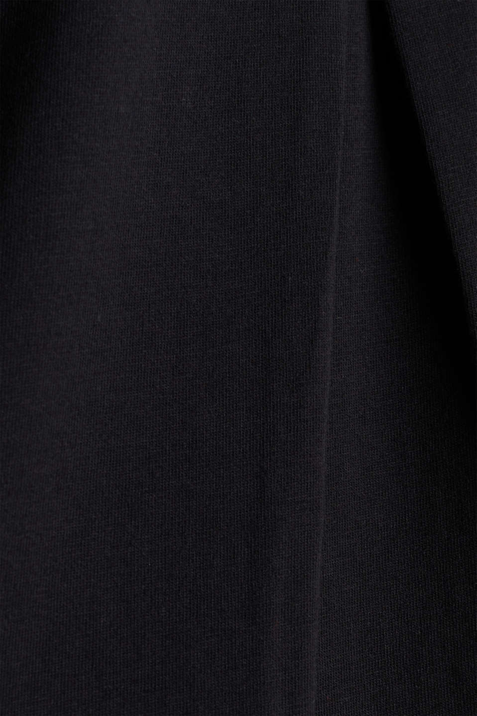 Top with crossed-over satin ties, BLACK, detail image number 3