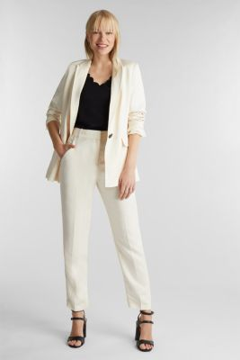 Stretch top with scalloped edges, BLACK, detail