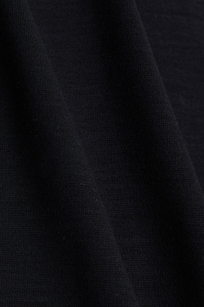 Jersey dungarees with a belt, BLACK, detail image number 4