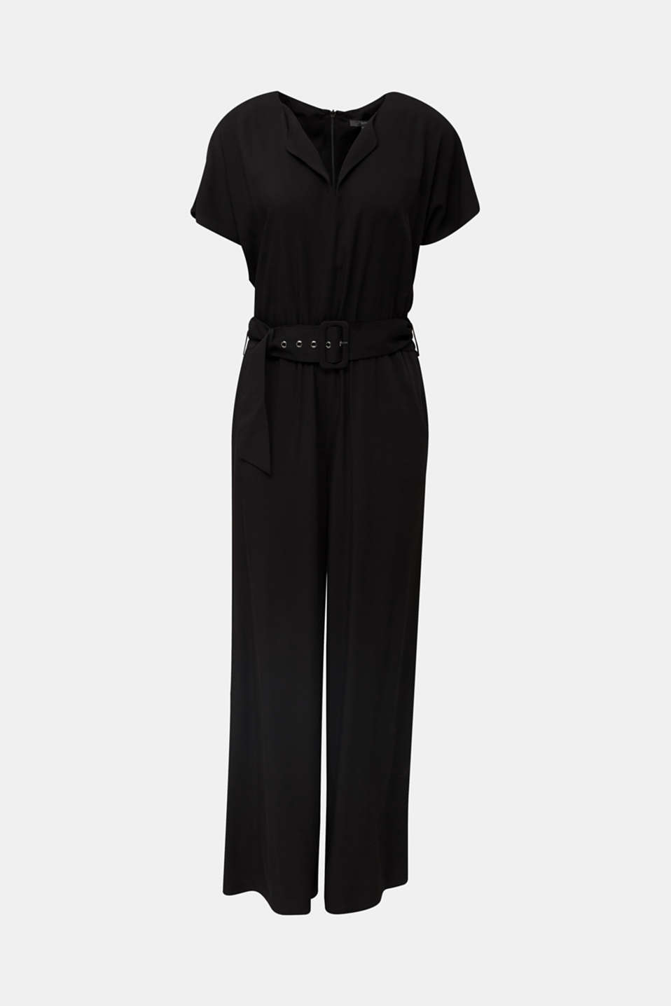 Jumpsuit made of LENZING™ ECOVERO™, BLACK, detail image number 7