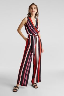 Wrap-look crêpe jumpsuit, BLACK 2, detail