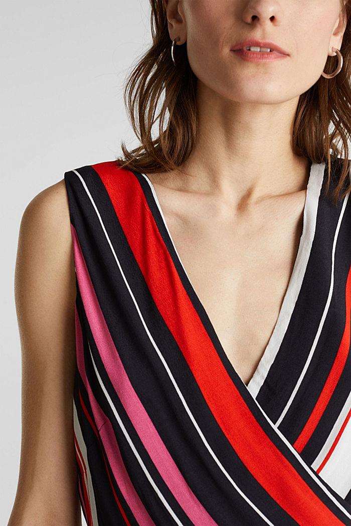 Wrap-look crêpe jumpsuit, BLACK, detail image number 2