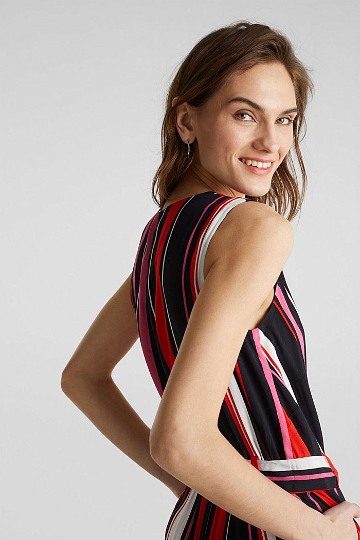 Wrap-look crêpe jumpsuit, BLACK, detail image number 7