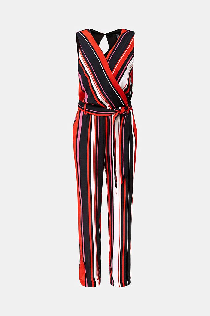 Wrap-look crêpe jumpsuit, BLACK, detail image number 8