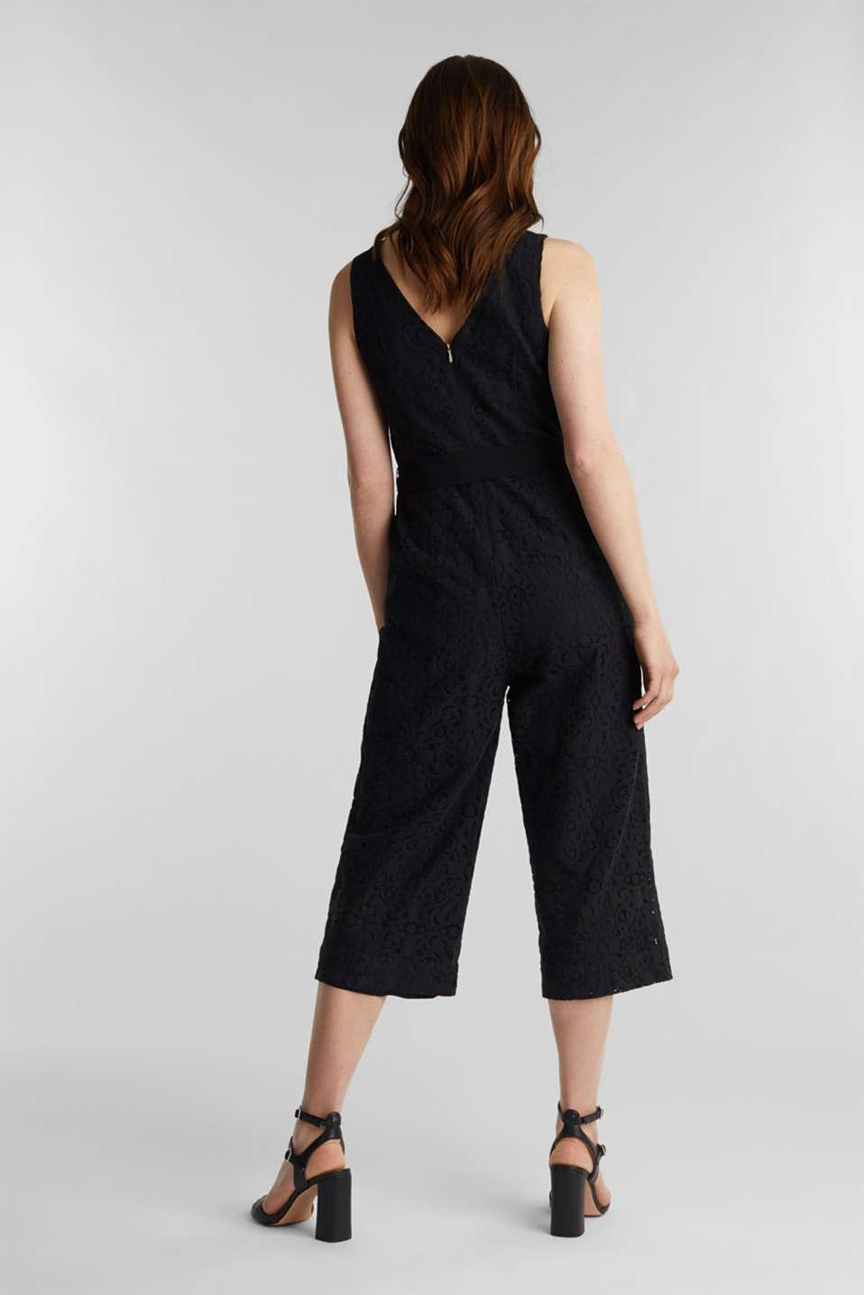 Lace jumpsuit, BLACK, detail image number 3