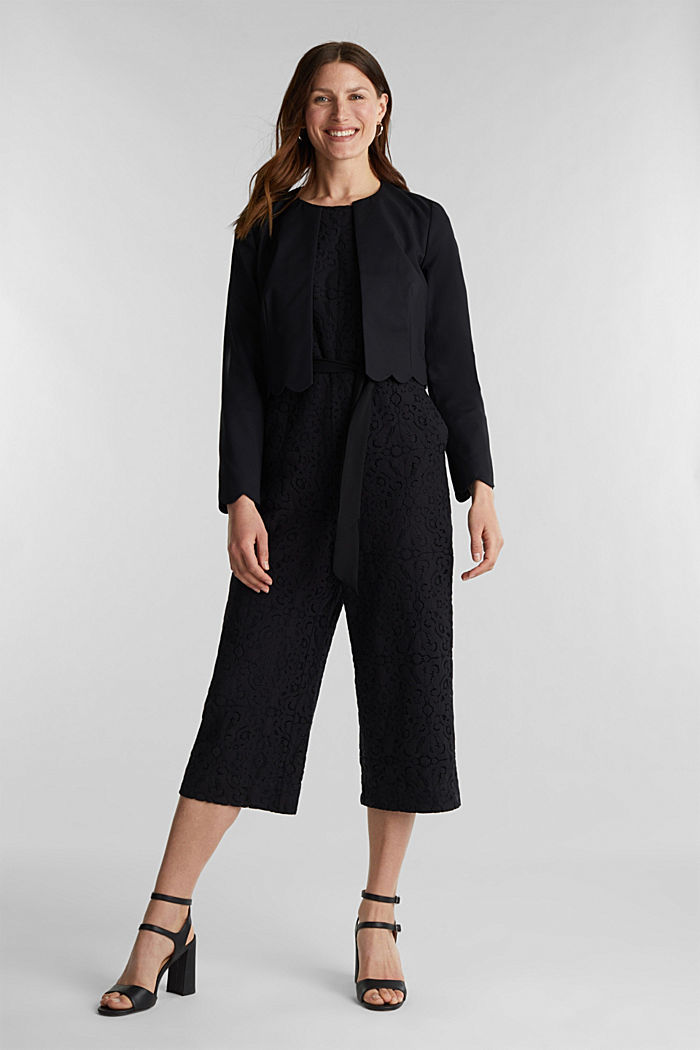 Overall aus Spitze, BLACK, detail image number 1