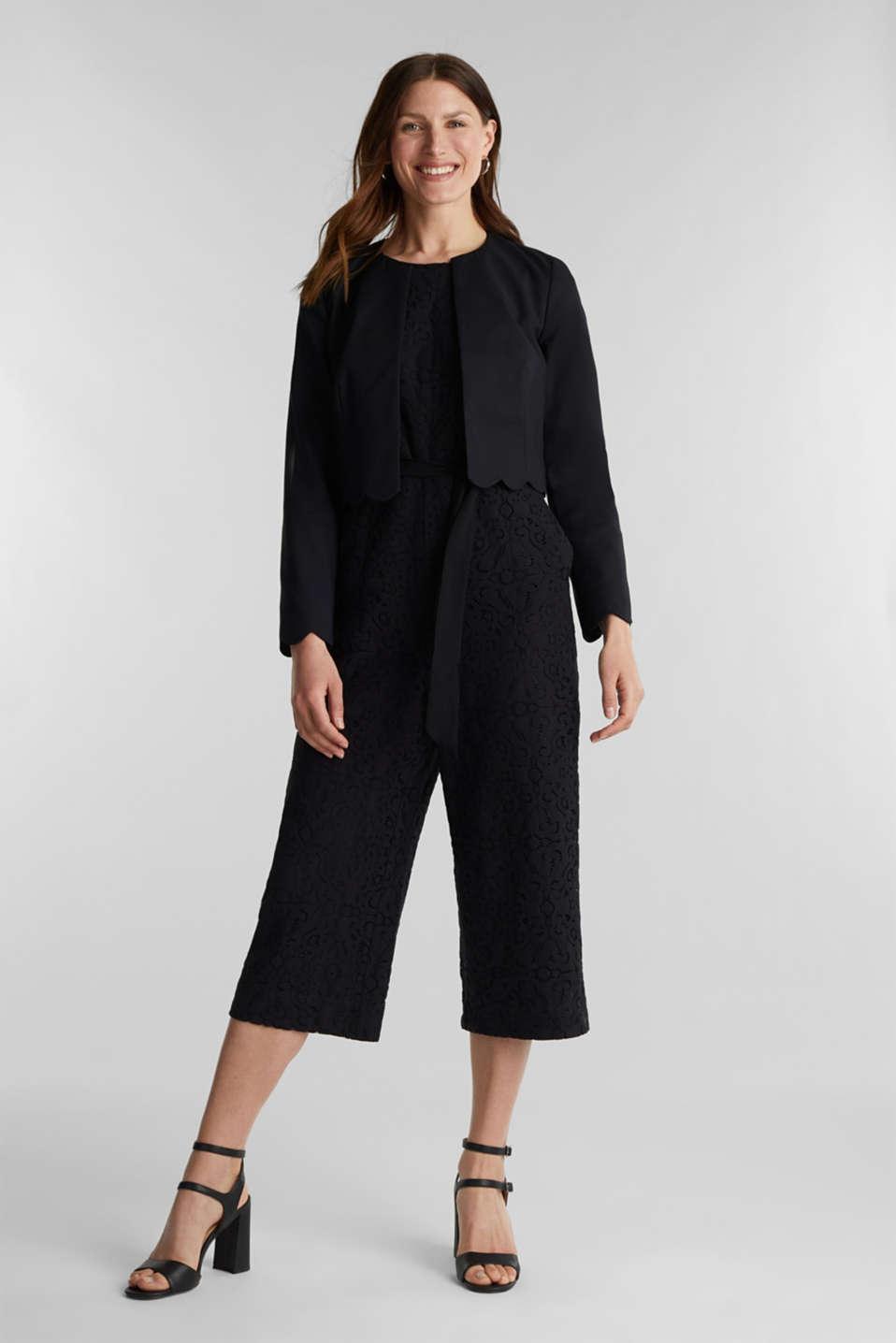 Lace jumpsuit, BLACK, detail image number 1
