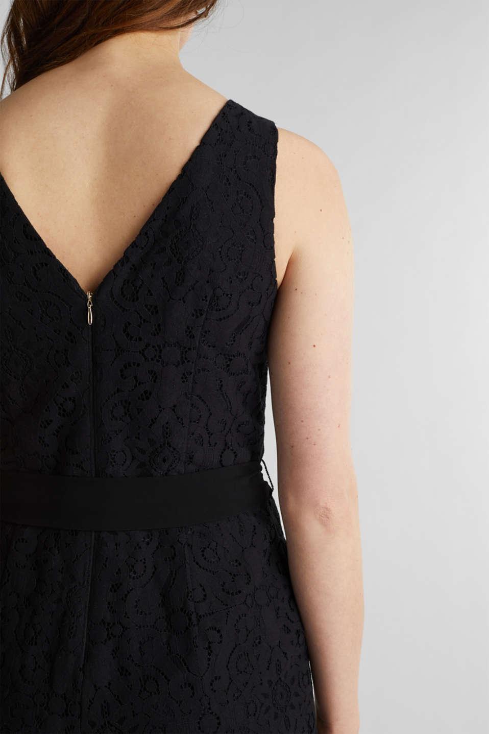 Lace jumpsuit, BLACK, detail image number 2