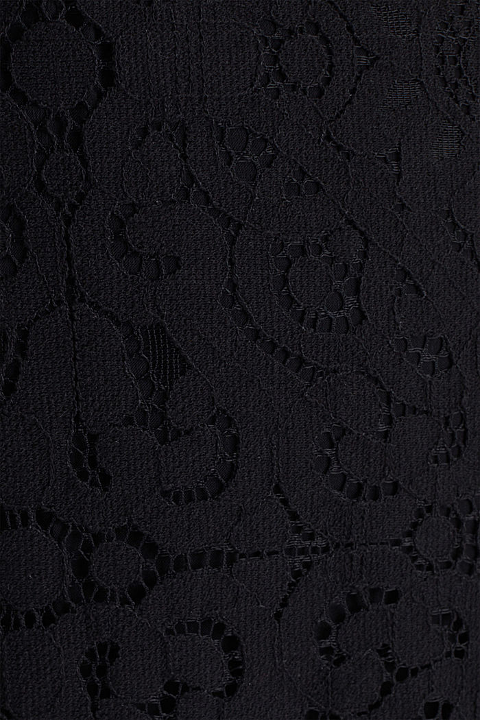 Overall aus Spitze, BLACK, detail image number 4