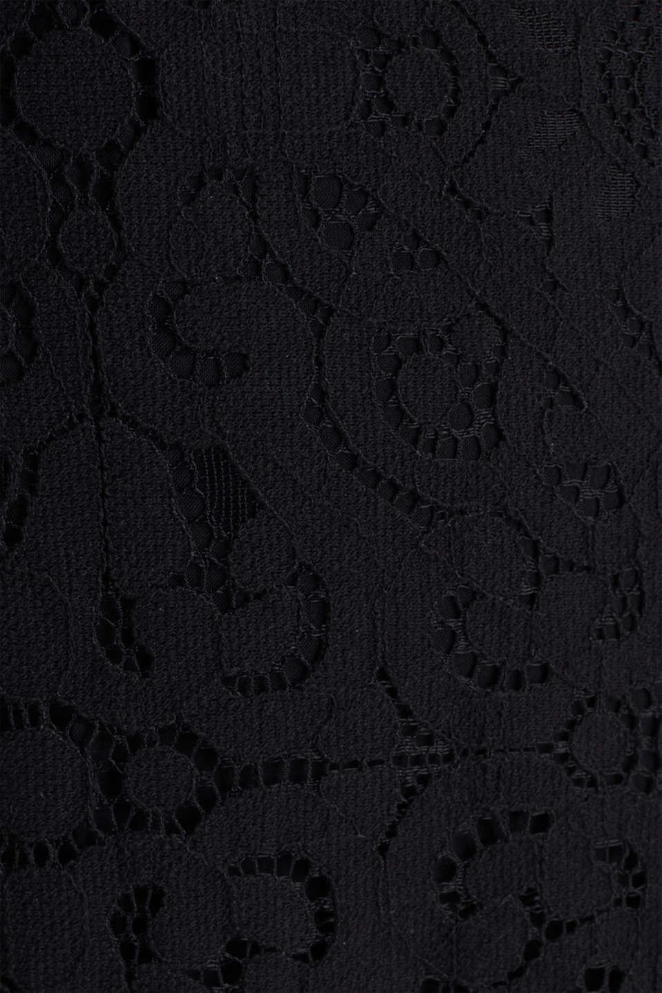 Lace jumpsuit, BLACK, detail image number 4