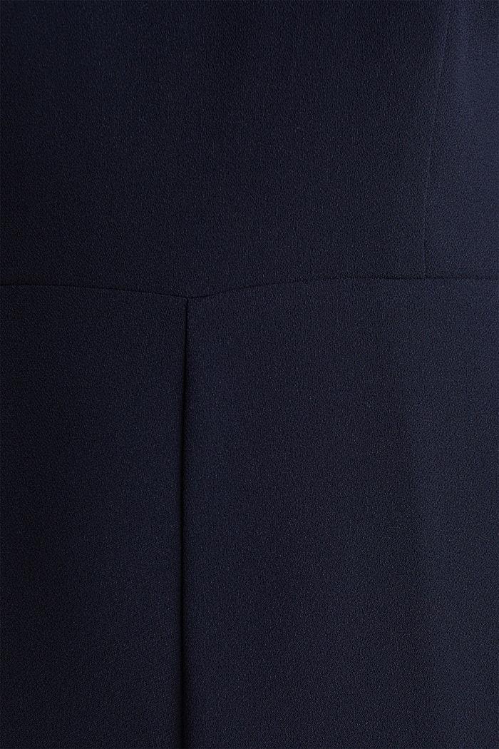 Jumpsuit aus Crêpe mit Spitze, NAVY, detail image number 2
